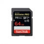 Карта памяти SD 64Gb SanDisk Extreme Pro UHS-I U3 V30 170/90 MB/s SDS