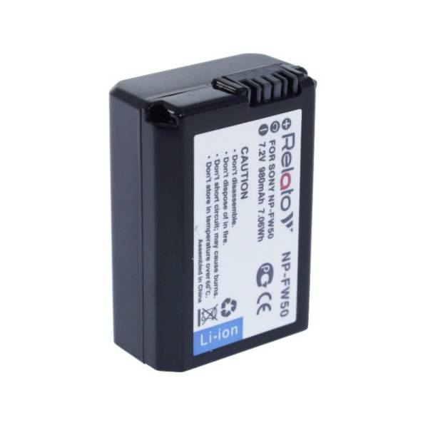 Аккумулятор Relato NP-FW50 980mAh для Sony A3000/ A3500/ A5000/ A5100