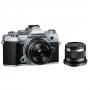 Фотоаппарат Olympus OM-D E-M5 mark III kit 17mm F1.8 + 45mm F1.8 сере