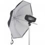 Зонт Falcon Eyes 70 см URK-32TWB белый полупрозрачный и черный
