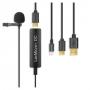Микрофон петличный Saramonic LavMicro+ DC для Android и iOS устройств