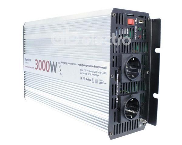 Автоинвертор Relato MS3000/12V вход DC 10-15В выход 220В Wmax3000Вт