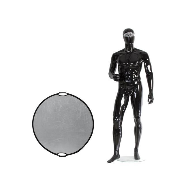 Отражатель Falcon Eyes 82см CFR-32S HL круглый серебро-белый ручки