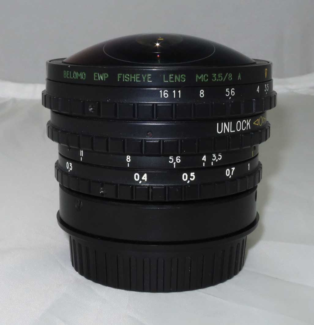 Объектив Belomo EWP Fisheye lens МС 3,5/8 А для Canon б/у