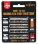 Аккумулятор Fujitsu R6 HR-3UTHCEX(4B) АА, 2450 мАч, 4 шт в блистере