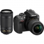 Фотоаппарат Nikon D3400 Kit AF-P 18-55 VR + 70-300 VR black