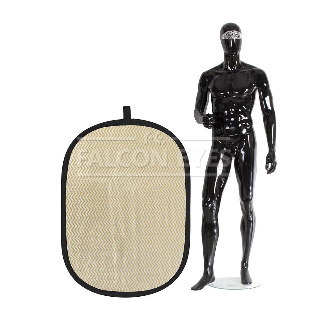 Отражатель Falcon Eyes 92х122см. RFR-3648M золотисто-серебистые полос
