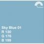 Фон бумажный Colorama 01 SKY BLUE 2,72 х 11 метров