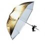 Зонт Falcon Eyes 90 см URK-48TGS золот./серебр./просв./отражен.