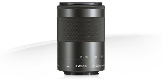 Объектив Canon EF-M 55-200mm f/4.5-6.3 IS STM черный / серебро