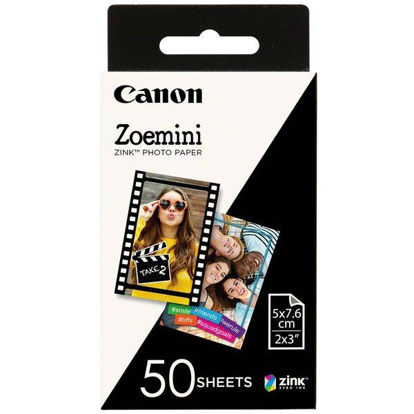 Бумага Canon Zoemini Zink Photo Paper (ZP-2030-50) 5x7.5 cm 50 листов