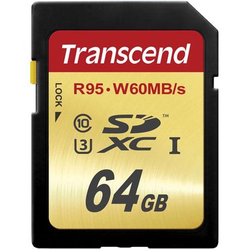 Карта памяти SD 64Gb Transcend SDXC UHS-I Class 10 U3 Ultim 90/60 Mb/