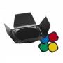 Набор Visico Barndoor BD-200 Шторки + Соты + цветные фильтры