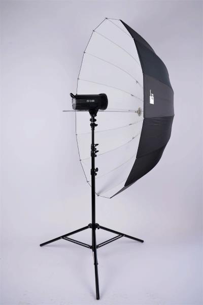 Зонт FST UD-51 B/W белый на отражение глубокий 130см
