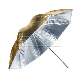 Зонт Falcon Eyes 90 см URN-48GS отражение серебро/золото