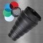 Рефлектор Visico Snoot SN-303 тубус под Bowens с сотами и цв.фильтрам