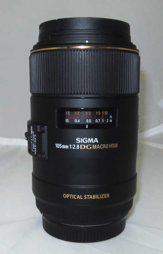 Объектив Sigma (Canon) 105mm f/2.8 EX DG OS HSM MACRO б/у