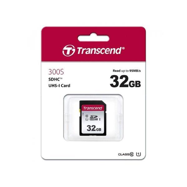 Карта памяти SD 32Gb Transcend SDHC UHS-I U3 300S 95/45 MB/s