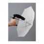 Зонт Lastolite LU2126 50 см просветный + рукоятка для вспышки