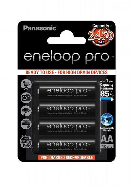 Аккумулятор Panasonic Eneloop Pro AA 2450 mAh 4шт (BK-3HCCE/4BE)