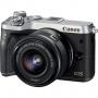 Фотоаппарат Canon EOS M6 15-45 IS STM kit серебро / черный