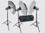 Комплект Fancier FAN004 (3) c 3-мя вспышками 200Дж и зонтами