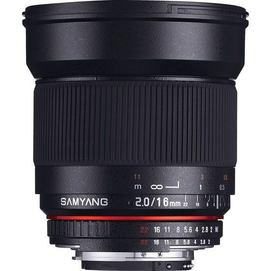 Объектив Samyang Fuji X 16 mm f/2.0 ED AS UMC CS