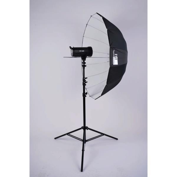 Зонт FST UD-105 белый на отражение, глубокий 105см
