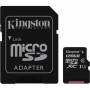 Карта памяти micro SDXC 128Gb Kingston Class 10 UHS-I + ADP