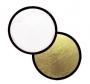 Отражатель Falcon Eyes 56см CFR-22G круглый золотой - белый