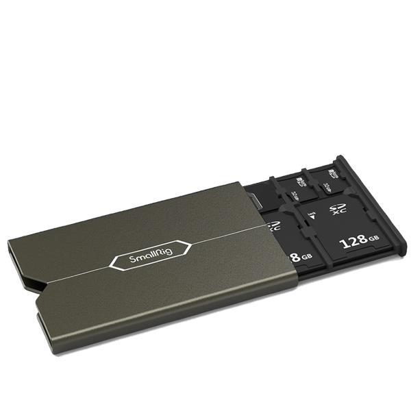 Кейс SmallRig 2832 для карт памяти 2xTF 3xSD + sim с ключом