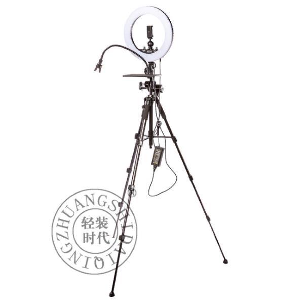 Светодиодный осветитель QZSD V5T кольцевой со стойкой
