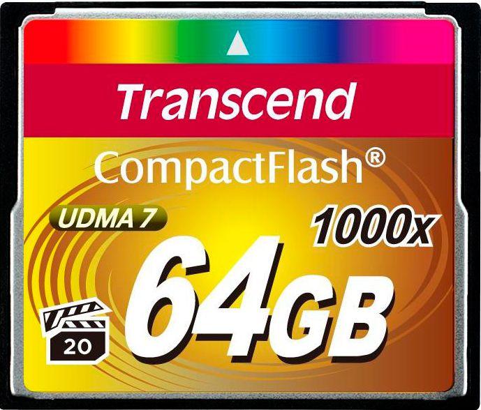 Карта памяти CF 64GB Transcend 1000х