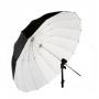 Зонт Fotokvant 165 см U-165W Para параболический белый глубокий