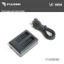 Fujimi YI 2USB2BC зарядное устройство USB для 2 акб XIAOMI Yi 2 4K