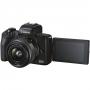Фотоаппарат Canon EOS M50 Mark II 15-45 IS STM kit черный