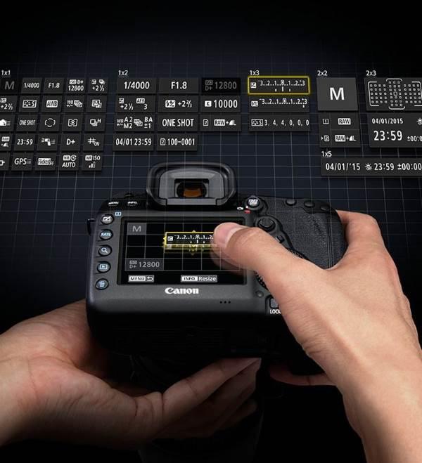 Экран быстрого управления Canon EOS 5d MarkIV