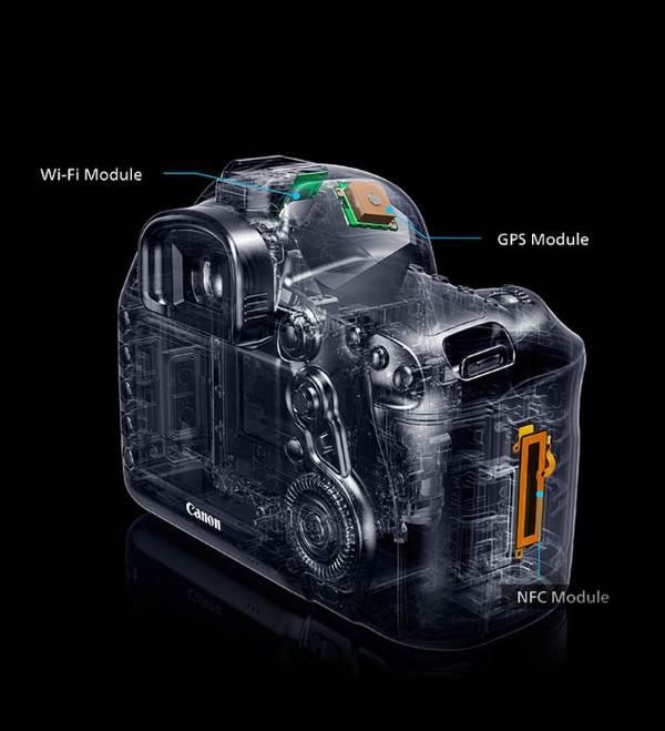 Расположение модулей WiFi GPS NFC Canon EOS 5d MarkIV