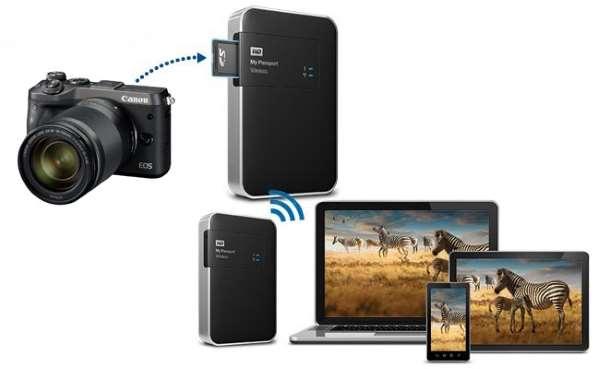 WD My Passport Wireless 2.5 2.0Tb USB 3.0/WiFi